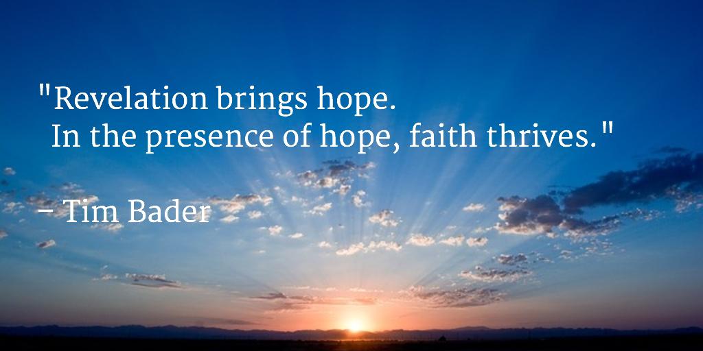Revelation brings hope