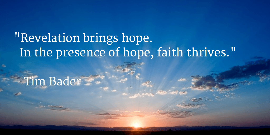 Revelation brings hope
